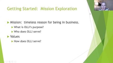 Thumbnail for entry OLLI Planning Workshop: Mission Statement