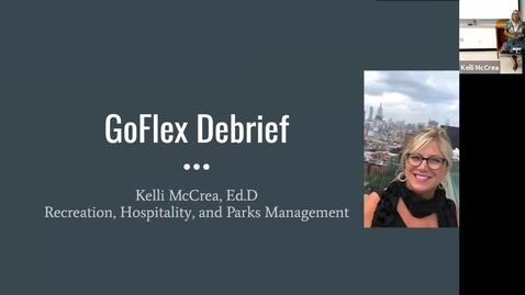 Thumbnail for entry Kelli McCrea GoFlex debrief