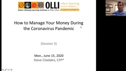 Thumbnail for entry How to Manage Your Money During the Coronavirus Pandemic - Session Three