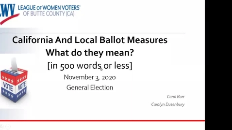 Thumbnail for entry  General Election Ballot Measures