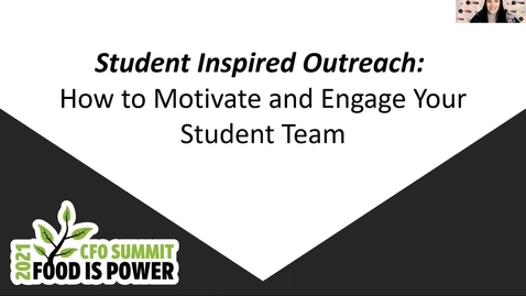 Thumbnail for entry Student Inspired Outreach: How to Motivate and Engage Your Student Team