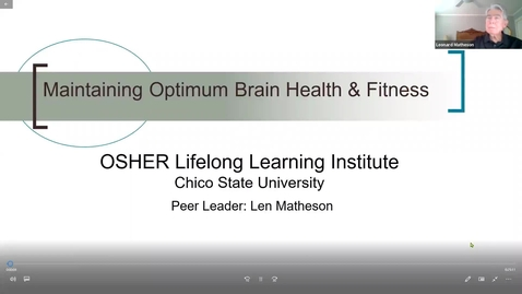 Thumbnail for entry Maintaining Optimum Brain Health & Fitness, No. 3