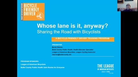 Thumbnail for entry Bicyle-Friendly Driver Training: Session 1