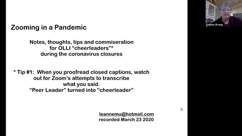 Thumbnail for entry Zooming in a Pandemic