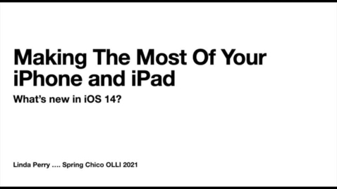 Thumbnail for entry Making the Most of Your iPhone and iPad S21