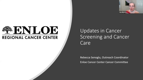 Thumbnail for entry OLLI Healthier You! Lecture Series: Session 5, Cancer Screening & Prevention