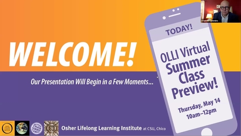 Thumbnail for entry OLLI Virtual Summer Preview