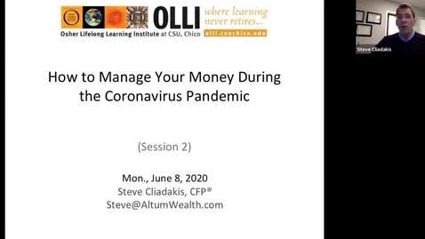 Thumbnail for entry How to Manage Your Money During the Coronavirus Pandemic - Session Two