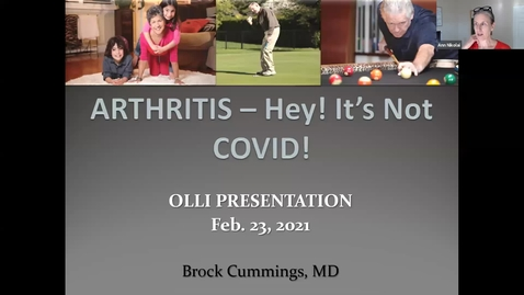Thumbnail for entry OLLI Healthier You! Lecture Series: Session 3 Arthritis