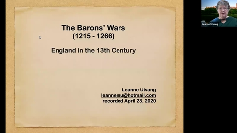 Thumbnail for entry The Barons' Wars  (1215-1266)