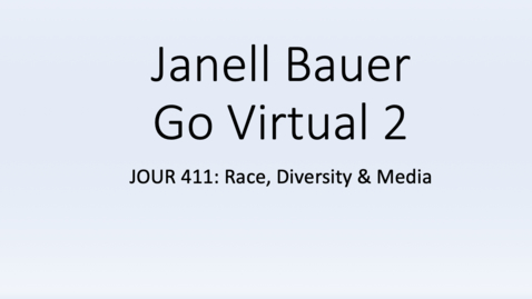 Thumbnail for entry Janell Bauer GV2 Reflection