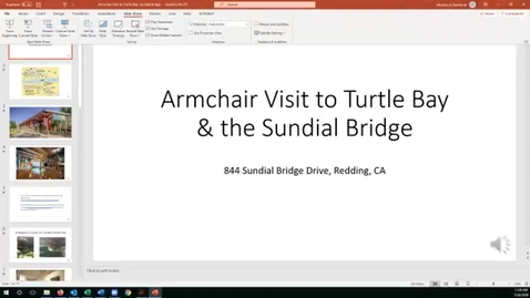Thumbnail for entry Armchair Visit to Turtle Bay & the Sundial Bridge