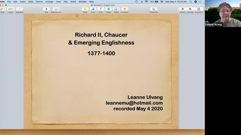 Thumbnail for entry Richard II: Chaucer & Emerging Englishness (1377-1400)