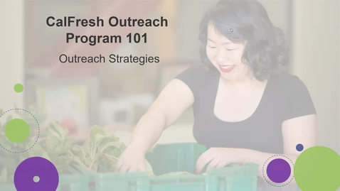 Thumbnail for entry Outreach Strategies