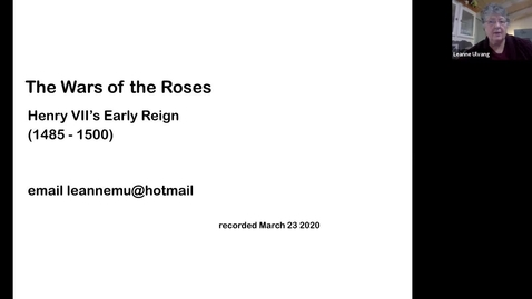 Thumbnail for entry Henry VII's Early Reign (1485-1500) (Session 10)