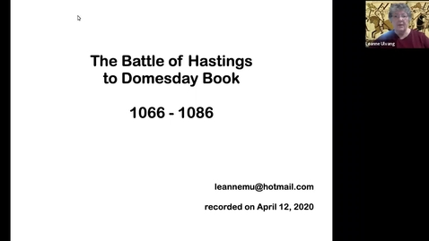 Thumbnail for entry The Battle of Hastings to the Domesday Book (1066-1086)