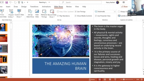 Thumbnail for entry Rewiring Your Brain for Spiritual & Personal Development: Session 1