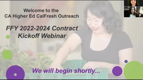 Thumbnail for entry FFY 2022-2024 CFO Higher Ed Contract Kickoff Webinar