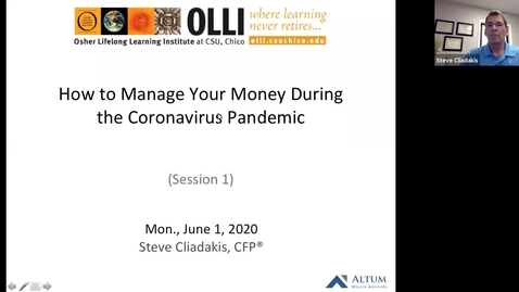 Thumbnail for entry How to Manage Your Money During the Coronavirus Pandemic - Session One