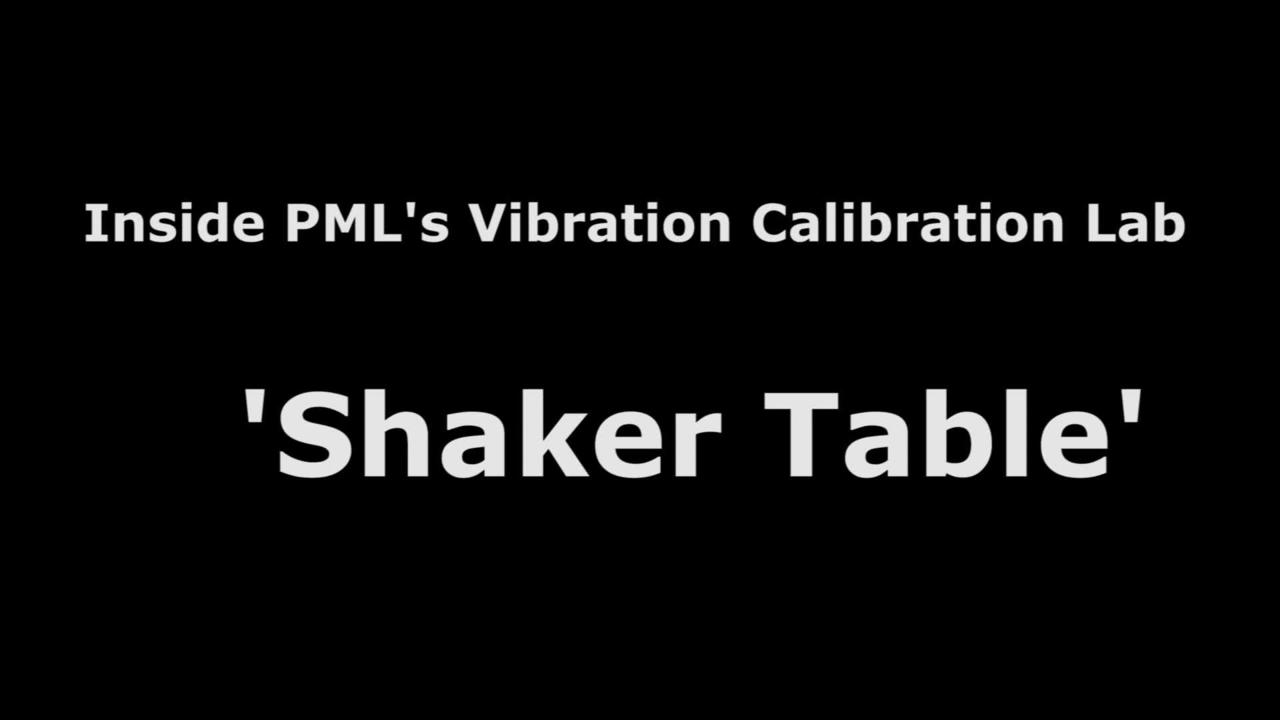 Shaker Table for Accelerometer Calibration