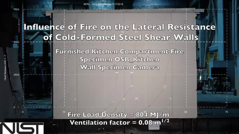 Cold-Formed Steel Shear Wall Structure-Fire Interaction (Kitchen wall view)