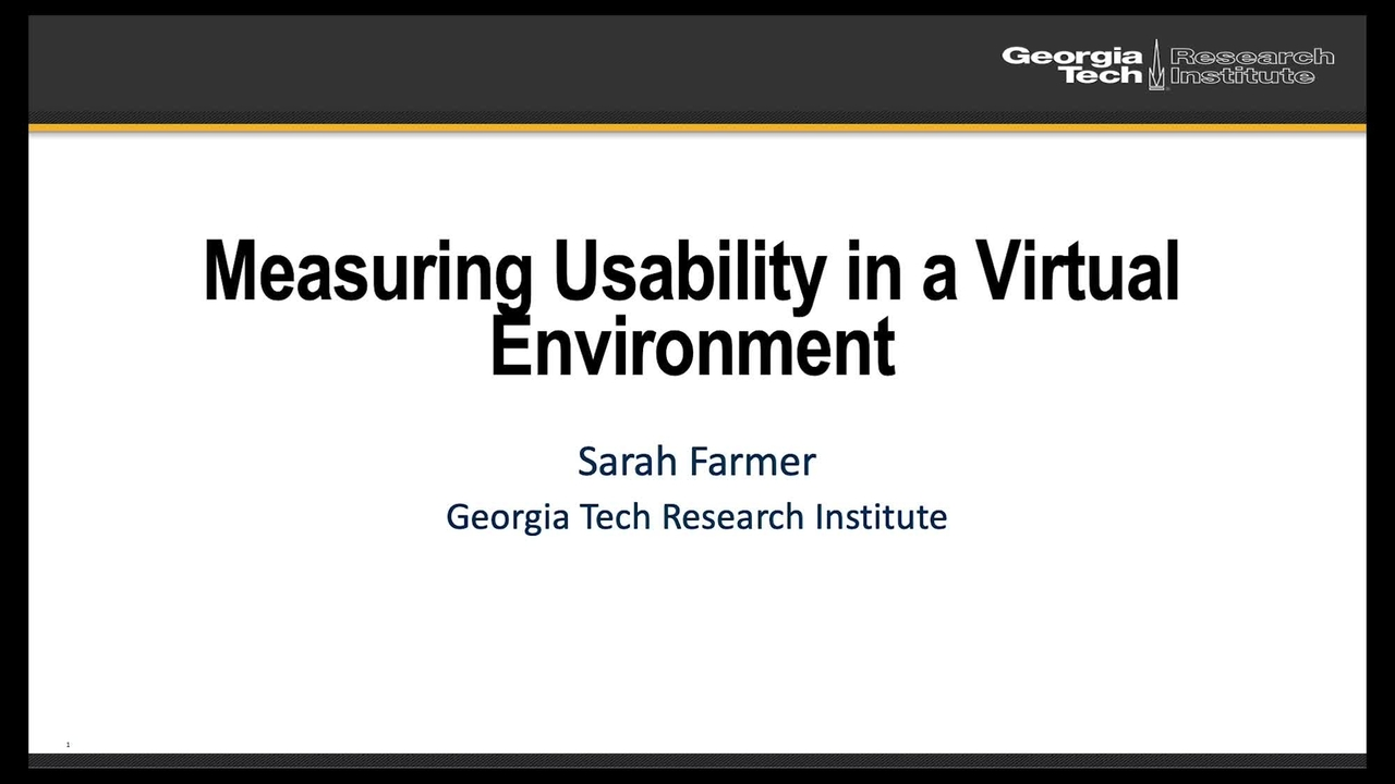 ARTEMIS: Measuring Usability in a Virtual Environment_On-Demand Session