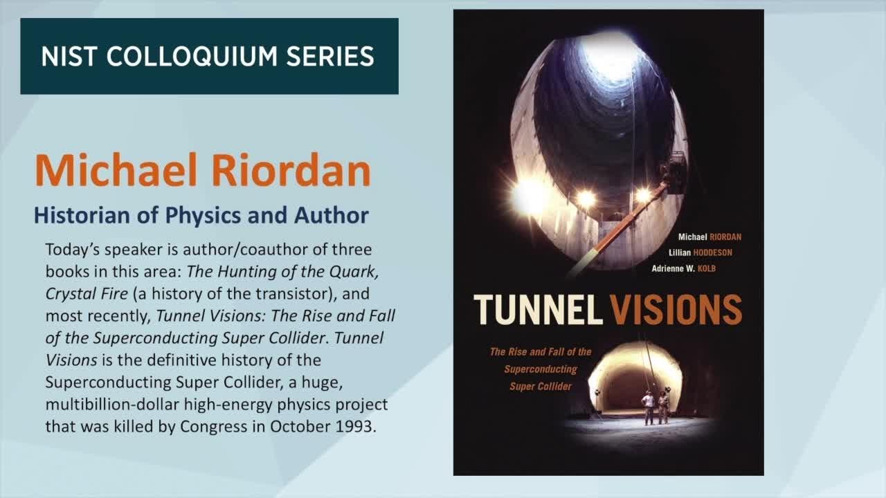 NIST Colloquium Series: Michael Riordan