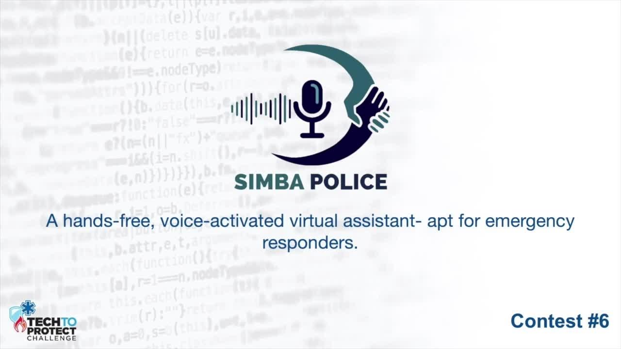 Tech to Protect Challenge - SIMBA
