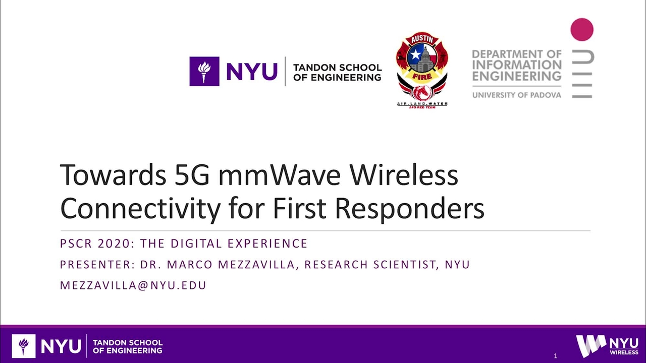 Towards 5G mmWave Wireless Connectivity for First Responders_On-Demand Session
