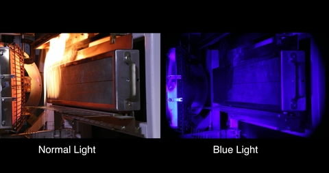 Seeing Through Fire: NIST Blue-Light Imaging Method vs. Normal Illumination