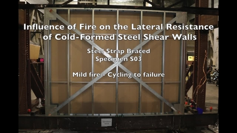 Cold-Formed Steel Shear Wall Structure-Fire Interaction (Specimen S03)