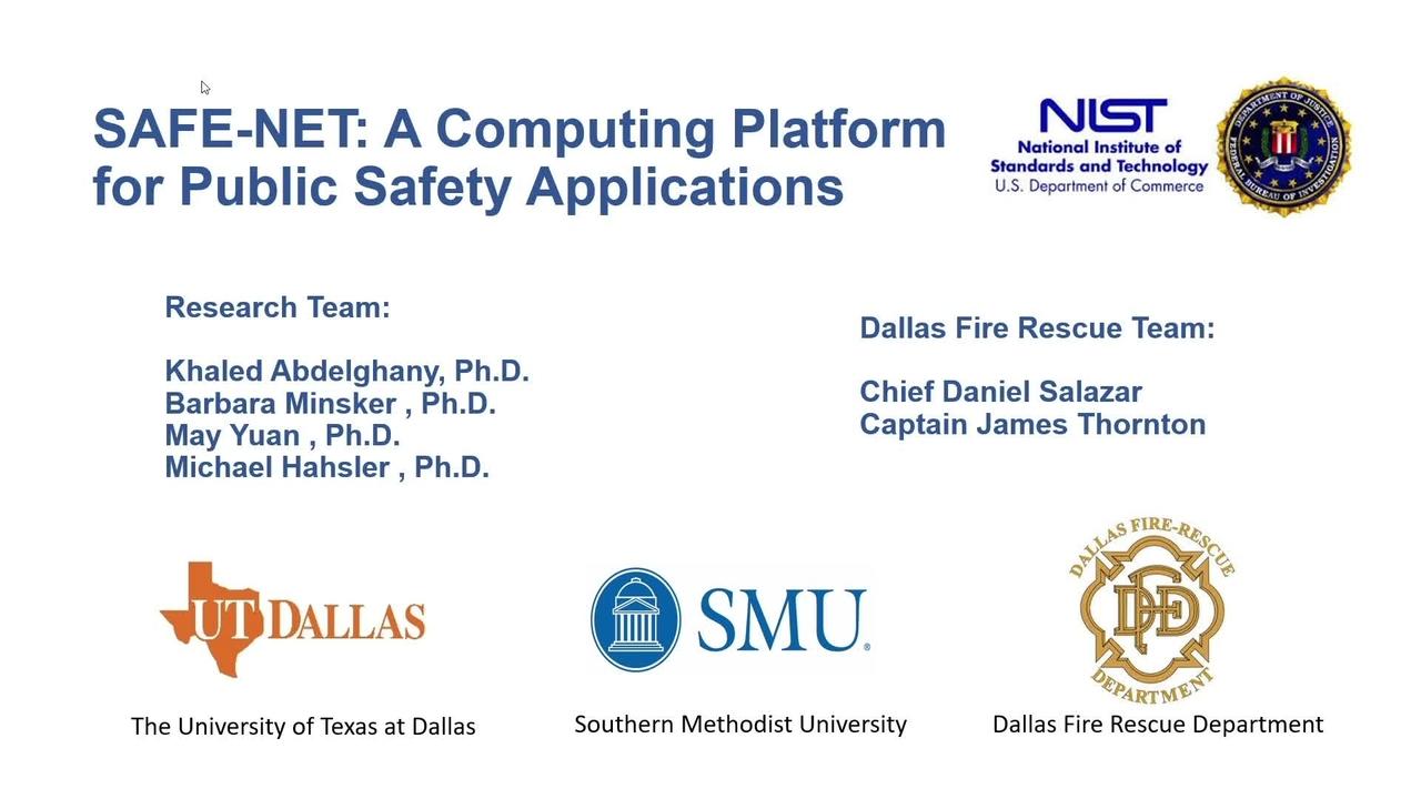 SAFE-NET_Computing Platform for PS Applications_On-Demand Session