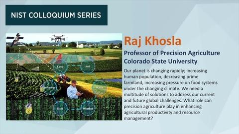 NIST Colloquium Series: Raj Khosla