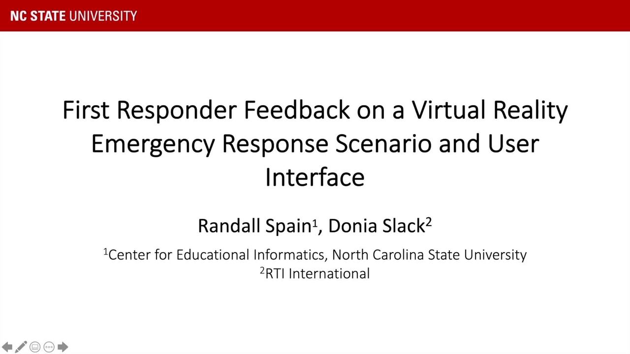 FR Feedback on a VR Emergency Response Scenario and UI_On-Demand Session