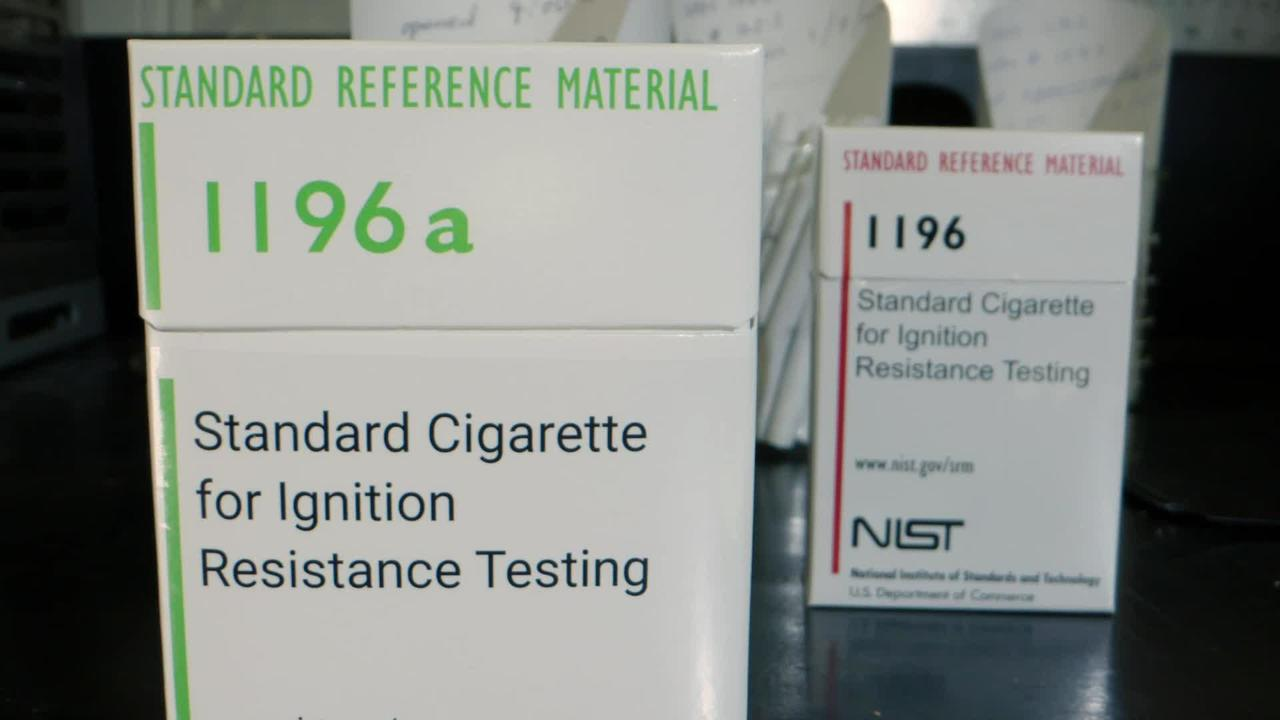SRM 1196a - Standard Cigarette for Testing Flammability of Mattresses and Furniture