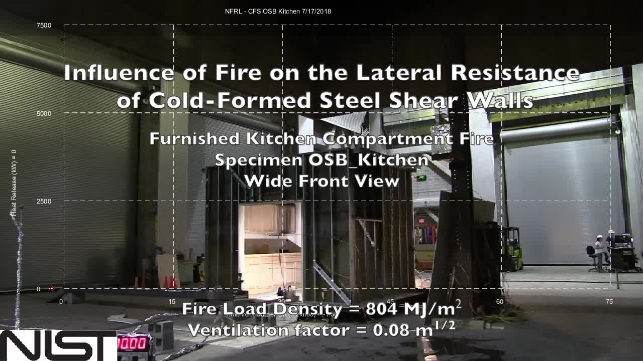 Cold-Formed Steel Shear Wall Structure-Fire Interaction (Kitchen front view)