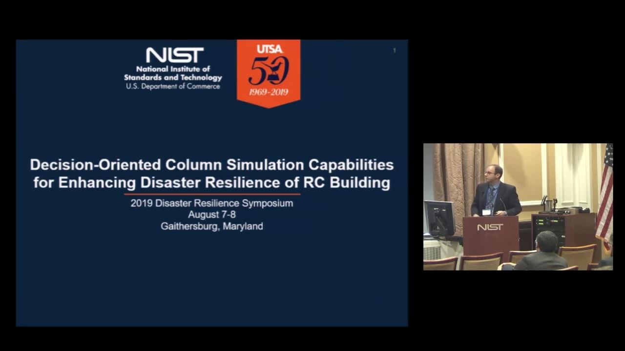 Decision-Oriented Column Simulation Capabilities for Enhancing Disaster Resilience of Reinforced Concrete Buildings: 2019 Disaster Resilience Symposium (Group Presentation)
