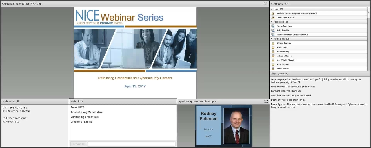 NICE Webinar Series: Rethinking Credentials for Cybersecurity Careers