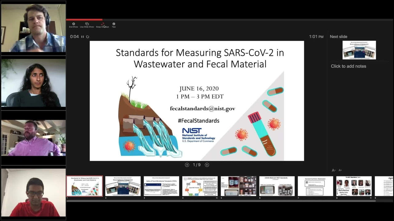 Webinar: Measuring SARs-CoV-2 in Wastewater and Fecal Material