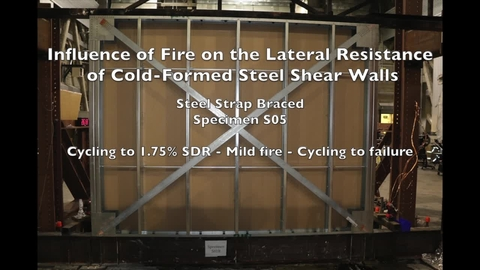 Cold-Formed Steel Shear Wall Structure-Fire Interaction (Specimen S05)