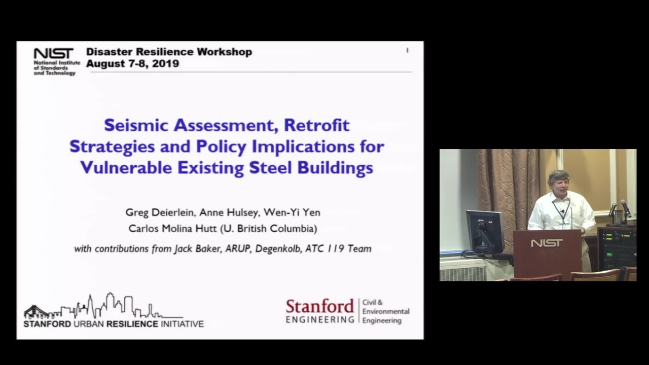 Seismic-Assessment, Retrofit Strategies and Policy Implications for Vulnerable Existing Steel Buildings:  2019 Disaster Resilience Symposium