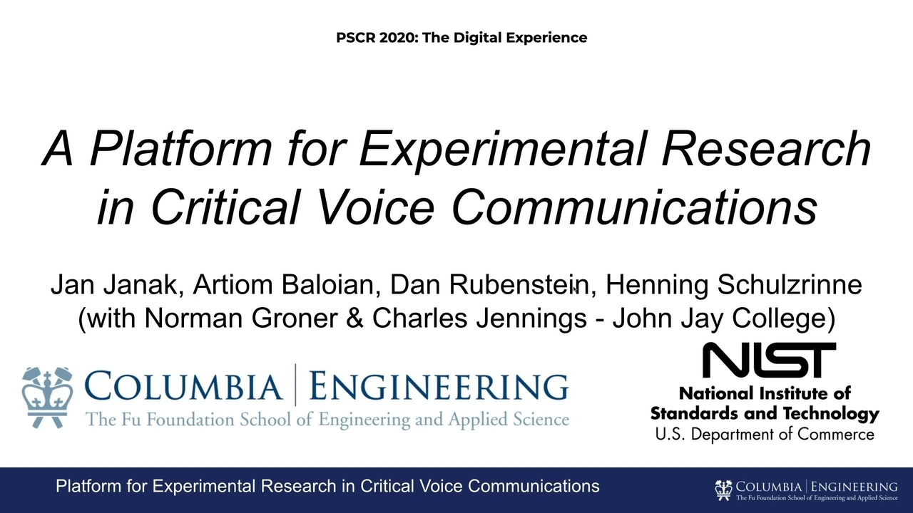 Emulating and Evaluating PS Voice Quality_On-Demand Session