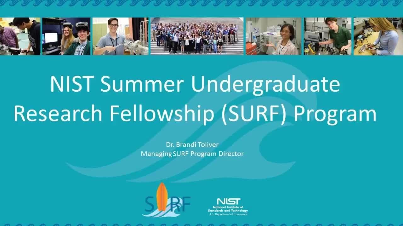 2019 Summer Undergraduate Research Fellowship (SURF) Application Process Webinar
