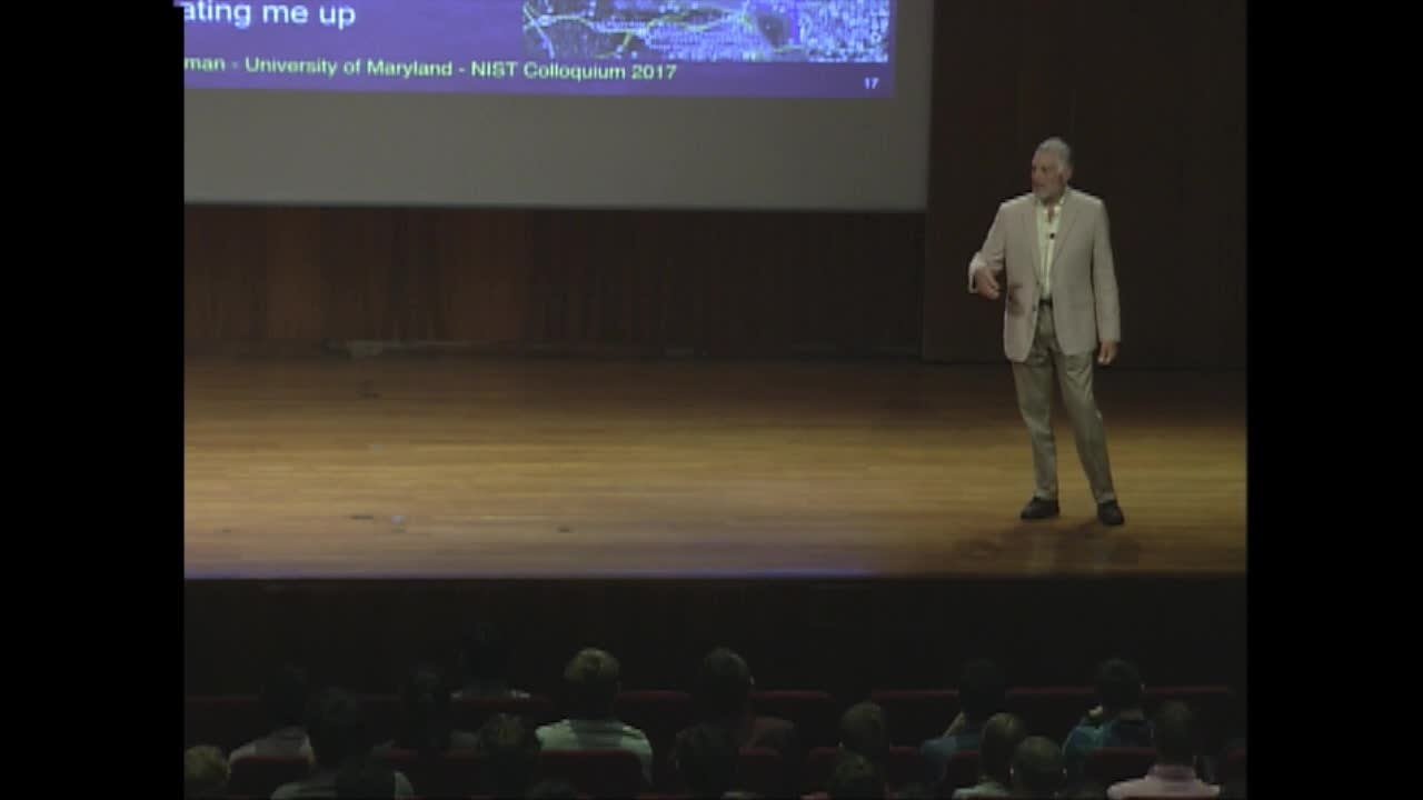 NIST Colloquium: Physics for Decision Makers by Jordan Goodman, University of Maryland