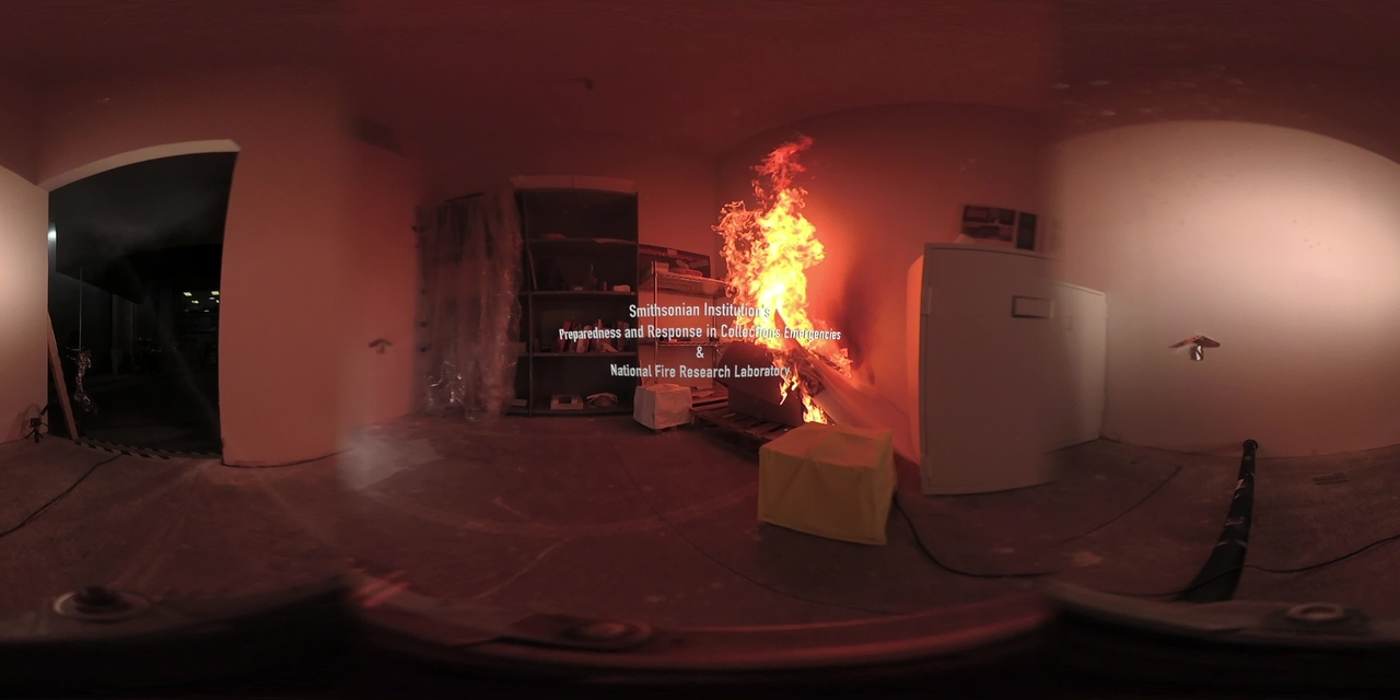 360° Video of a Replica Museum Collection Storage Room Fire