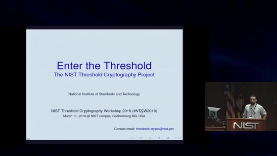 NIST Threshold Cryptography Workshop 2019 | NIST