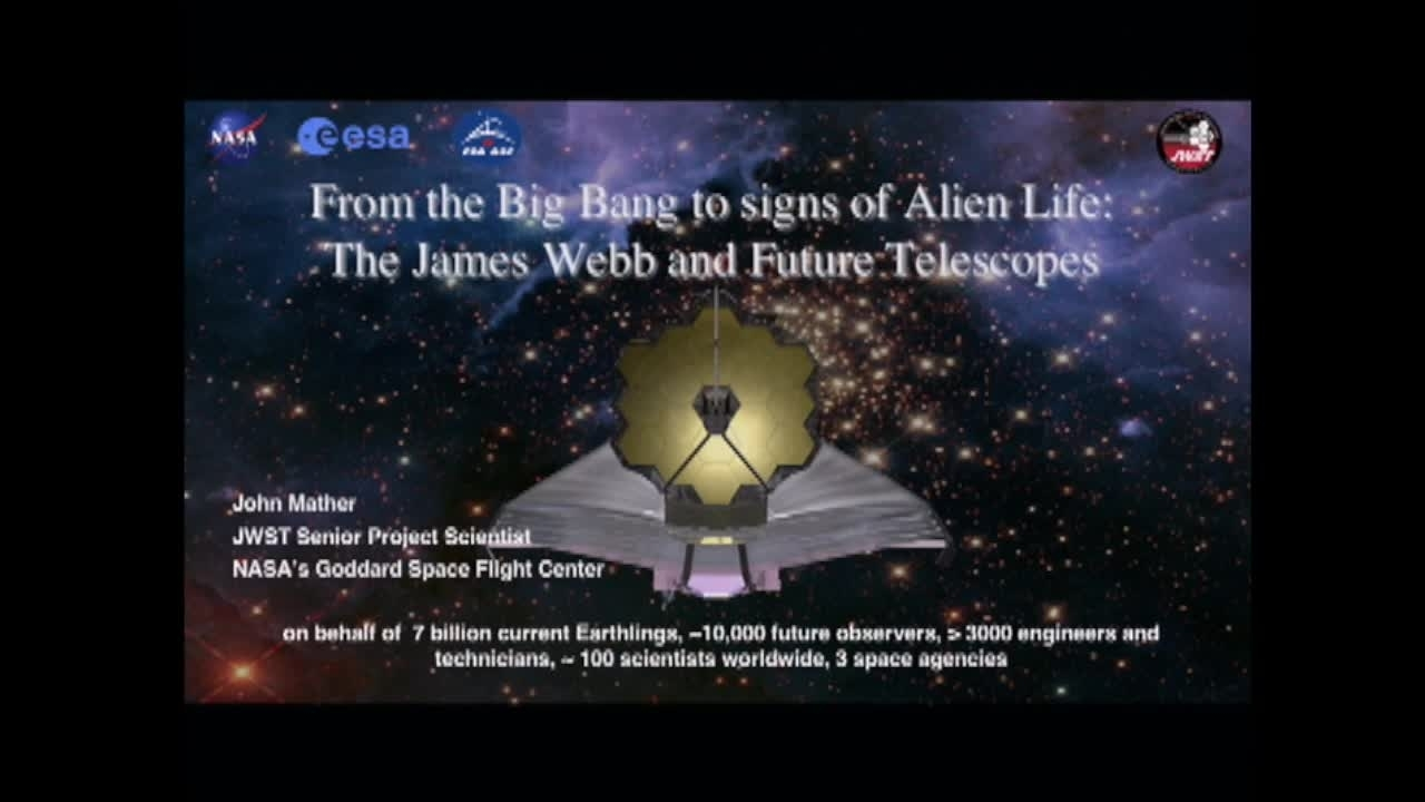 NIST Colloquium Series: From the Big Bang to Signs of Alien Life with the James Webb and Future Telescopes