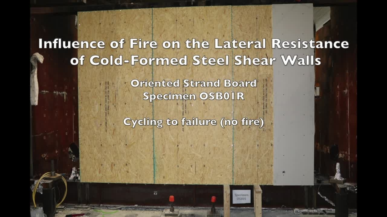 Cold-Formed Steel Shear Wall Structure-Fire Interaction (Specimen OSB01R)
