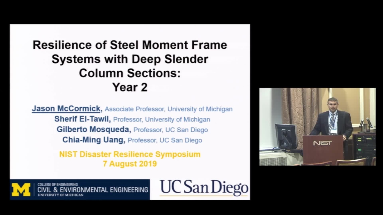 Resilience of Steel Moment Frame Systems with Deep Slender Column Sections: 2019 Disaster Resilience Symposium