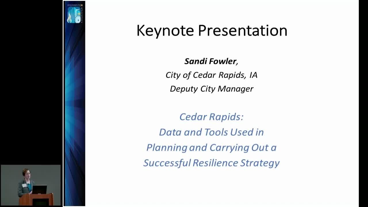 Keynote Address - 2018 Community Resilience Data Workshop